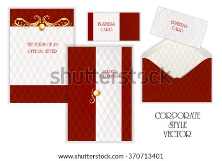 Business card folder paper envelopes letterhead stock photo photo business card folder for paper envelopes letterhead corporate style gold jewelry reheart Image collections