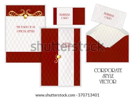 Business card folder paper envelopes letterhead stock photo photo business card folder for paper envelopes letterhead corporate style gold jewelry reheart Images