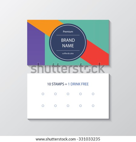 business card for cafe - stock vector
