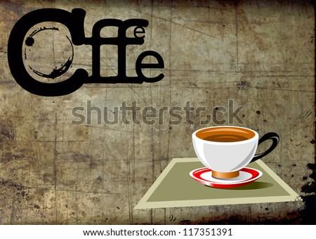 Business card for cafe-bar (vector illustration); - stock vector