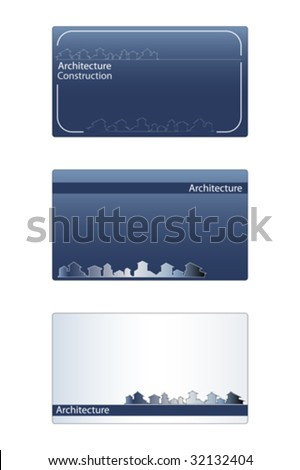 Business card real estate architecture construction stock vector business card for real estate architecture construction business labels useful reheart Images