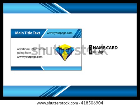 Business Card Identity Card Template Stock Vector 418506904