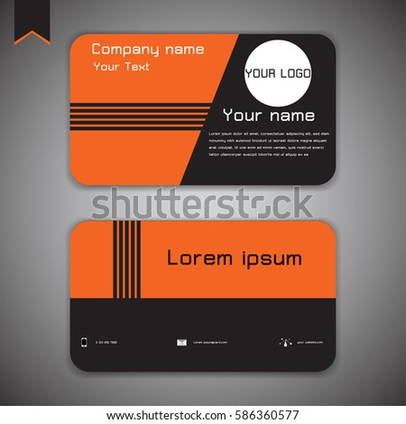 Business card modern abstract geometric background em vetor stock business card modern abstract geometric background orange black vector illustration reheart Images