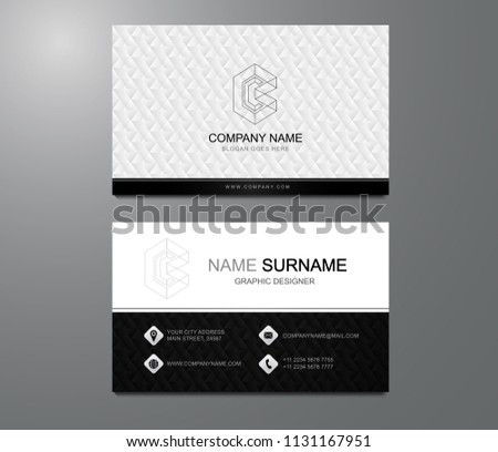 Business card modern luxury design vector stock vector 1131167951 business card modern and luxury design vector minimal and clean name cardalistic detailed reheart Gallery