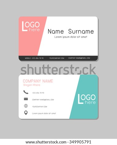 Vector modern creative clean business card stock vector 257356123 business card modern creative and clean business card template flat design abstract creative colourmoves