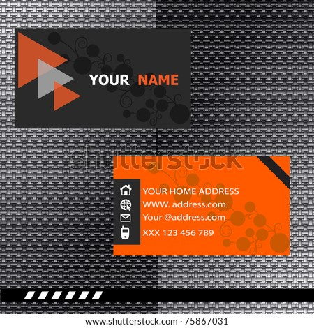 Business card modern design - stock vector