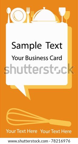 Business Card or Banner Design in Food Drink Coffee and Bakery Concept