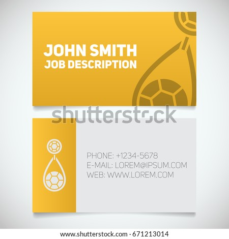 business card print template earring logo stock vector royalty free