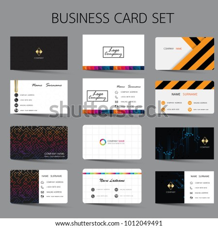 Business Card Set Template Design Inspiration Stock Photo (Photo ...