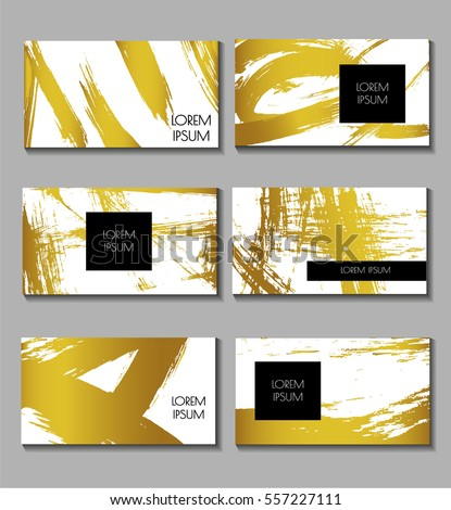 Business Card Set Templates Brochures Flyers Stock Vector HD ...