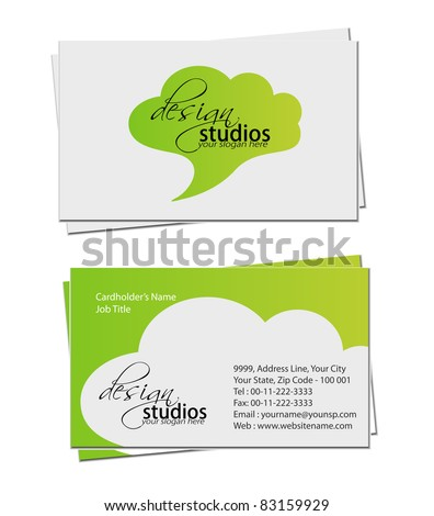 business card set , vector elements for design. - stock vector