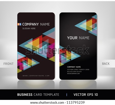 Business Card Set. Vector illustration. - stock vector