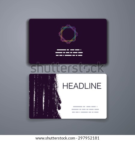 Business card template. Abstract Vector Template Layout Design for Flyer, Placard, Brochure or Booklet. Mobile, Technology and Infographic Concept. UI template. Web UI app design. - stock vector