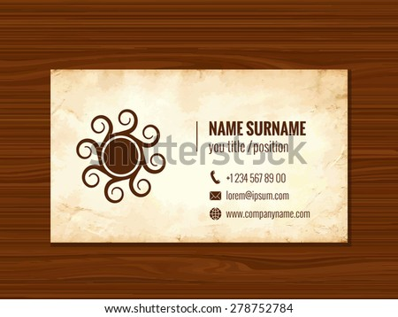 Business card template corporate identity old stock vector 278752784 business card template corporate identity old paper texture may be used for visit card colourmoves