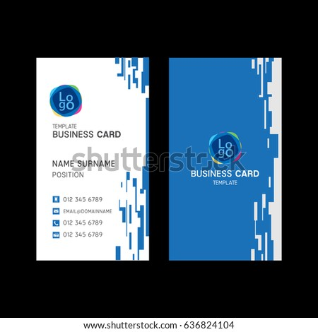 Business card template design stock vector hd royalty free business card template design cheaphphosting Gallery