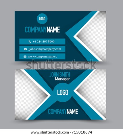 Business card template design corporate identity stock photo photo business card template design corporate identity style editable vector illustration blue color reheart Image collections