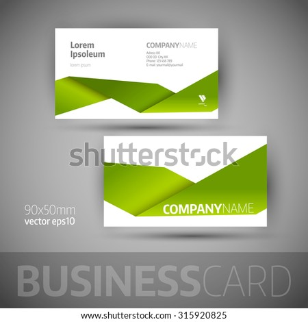 Business card template. Elegant vector illustration. - stock vector
