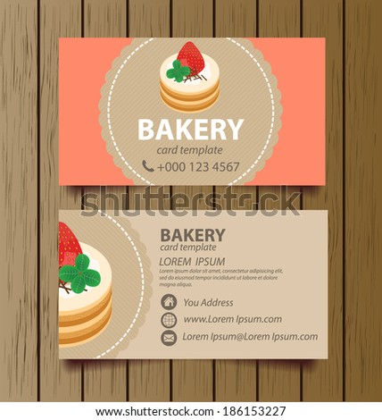 Business card template bakery business vector stock photo photo business card template for bakery business vector illustration reheart Gallery