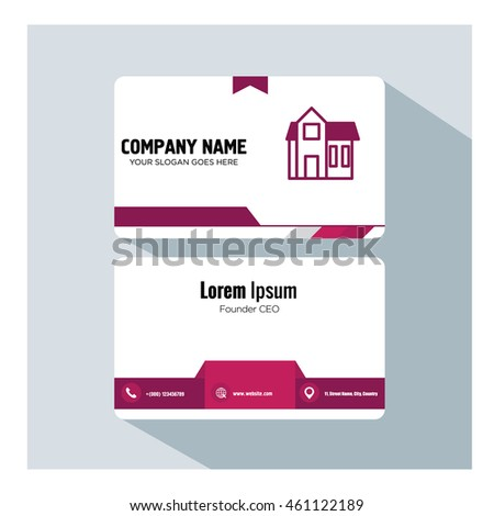 business card template. house icon