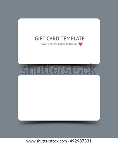 Business card template mock round corners stock vector 492987331 business card template mock up with round corners and shadow isolated on dark background realistic friedricerecipe Image collections
