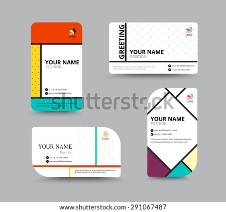 Business card template name card design stock vector 291067487 business card template name card design for business include sample text layout vector accmission