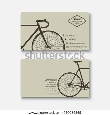 Business card template.vector - stock vector