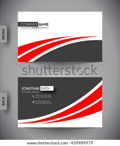 Business card template, vector design editable