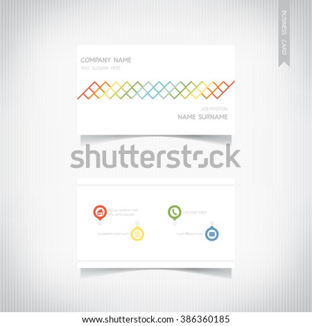 Business card template, vector eps10