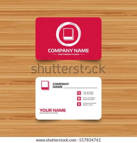 Business Card Template Texture Photo Frames Stock Vector 557834761