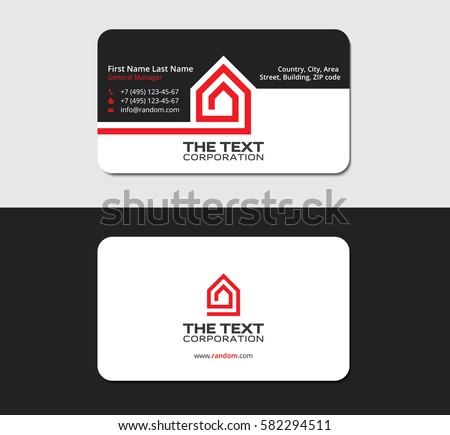 Business card template red house corporate stock vector 582294511 business card template with the red house corporate identity design colourmoves