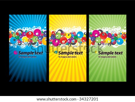 Business card templates - stock vector