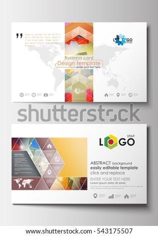 Business card templates cover design template stock vector hd business card templates cover design template easy editable blank abstract flat layout wajeb Gallery