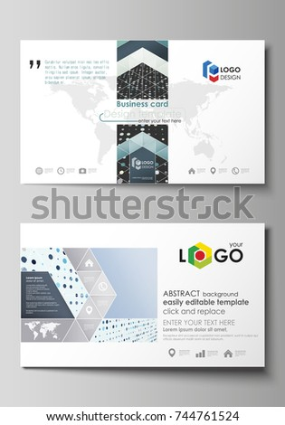 Business Card Templates Easy Editable Layout Stock Vector - Easy business card template