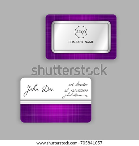 Business Card Templates Fabric Background Gloss Stock Vector (2018 ...