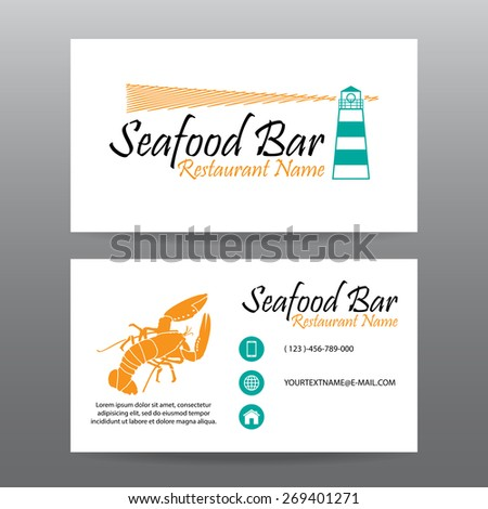Business card vector background,Restaurant staff - stock vector