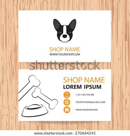 Business card vector background veterinaryshop animal stock vector business card vector background veterinaryshop animal feed colourmoves
