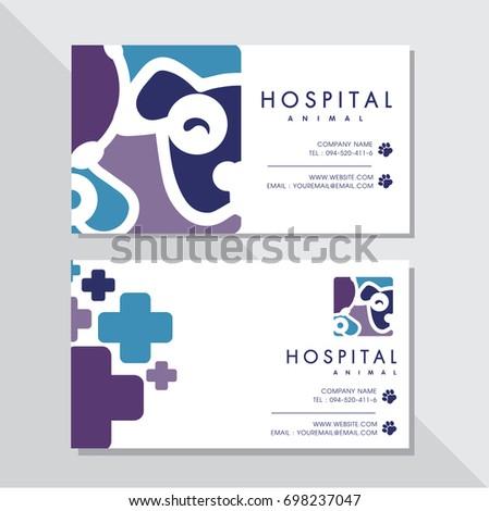Business card vector design animal hospital stock photo photo business card vector design and animal hospital logo colourmoves