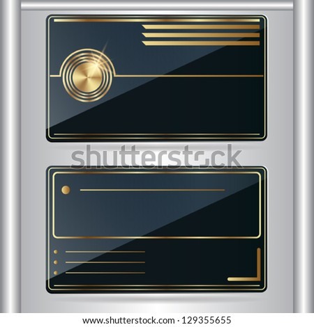 Business card vector icon.