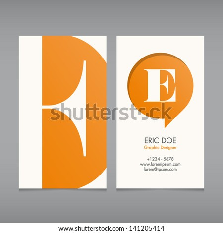 Business card vector template alphabet letter stock vector business card vector template alphabet letter text color editable font type reheart Image collections