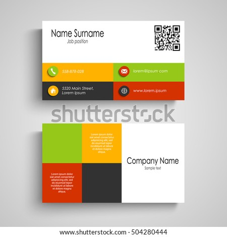 Business card colored design squares stock vector 504280444 business card with colored design squares reheart Image collections