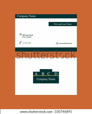 Business card with logo - stock vector