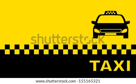 business card with taxi and place for text - stock vector