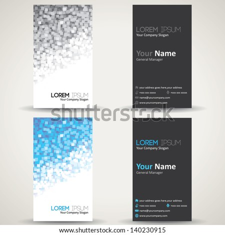 Business Cards -  Abstract background - stock vector