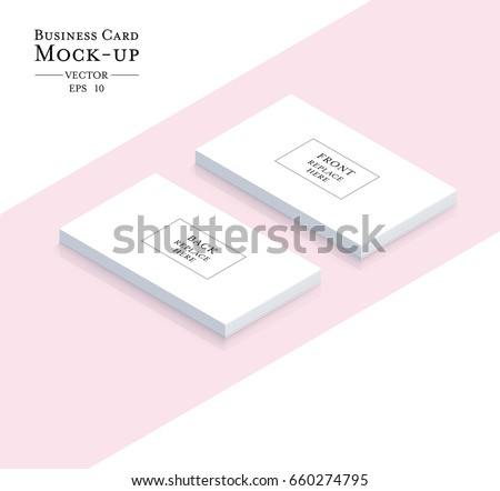 Business Cards Blank Mockup Template Vector Stock Vector - 10 up business card template