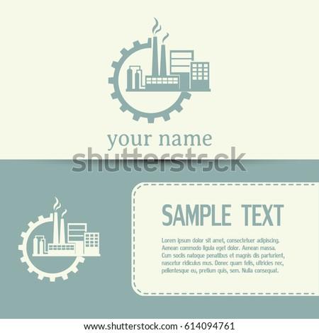 Tech factory logo template design vector stock vector for Industrial design business