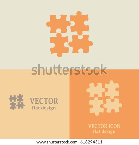 Business cards design puzzle vector icon stock vector 618294311 business cards design puzzle vector icon colourmoves
