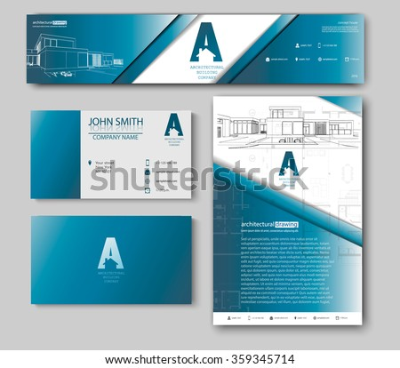 Business cards design blueprint sketch architectural stock vector business cards design blueprint sketch architectural stock vector 359345714 shutterstock malvernweather Gallery