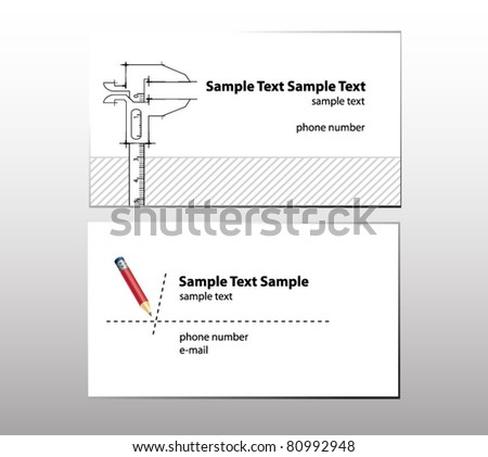 business cards for engineer - stock vector