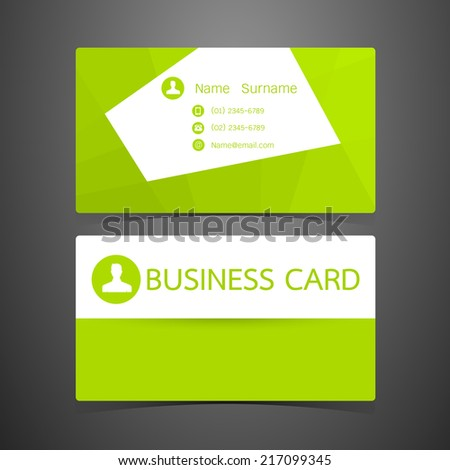 Business Cards green design. Vector illustration - stock vector