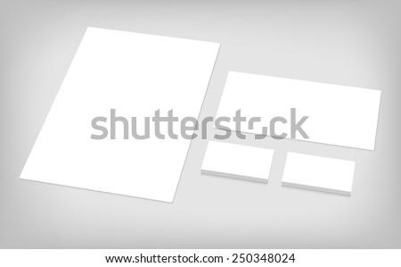 Business cards letterhead envelope stationary branding stock vector business cards letterhead envelope stationary branding template for ci presentation set of spiritdancerdesigns Images